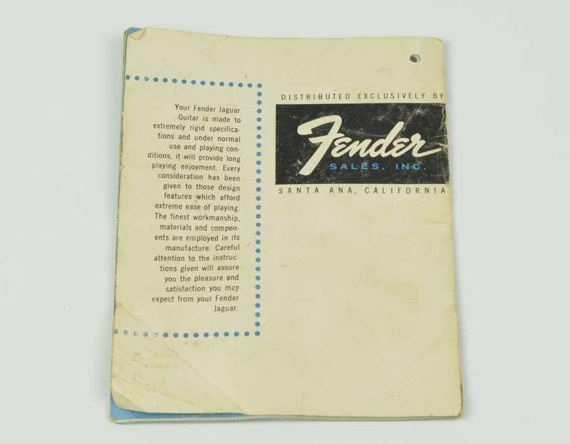 Vintage 1962 1963 Fender Jaguar Instruction Manual