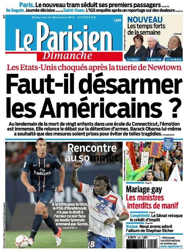 Le Parisien Dimanche 16 Décembre 2012
