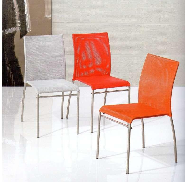 Sedia sedie poltrone tavoli cucina cucine metallo tavolo for Sedie moderne cucina