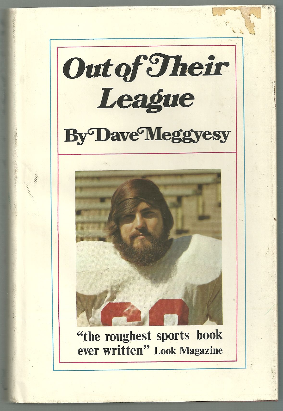 the life of a football player from high school in out of their league by david meggyesy