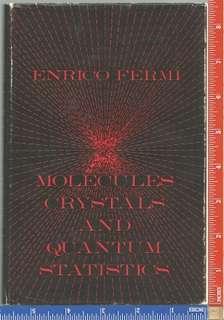 Molecules, Crystals and Quantum Statistics