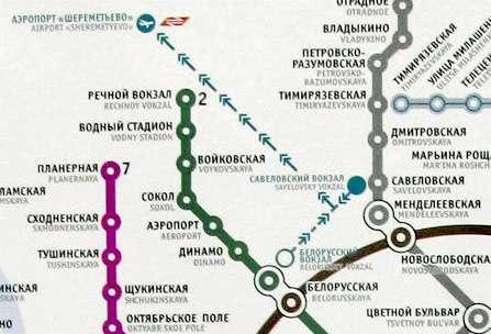 Новые схемы в вагонах метро