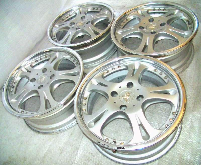 WEDS Kranze 17 7J +24 Alloy Wheels 4x114 AE86 Civic 180sx S13
