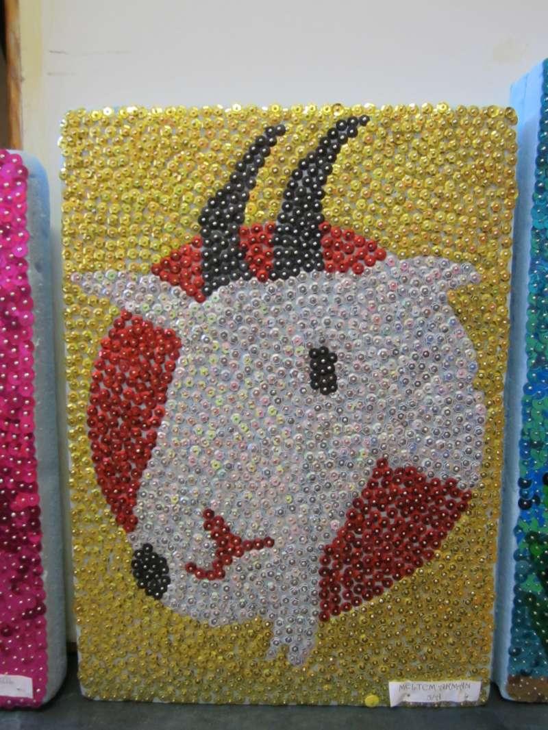 33c31be9deab8 Denizli Toki Ortaokulu payetli mozaik çalışmalarımız